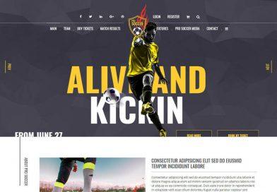 modèle HTML football