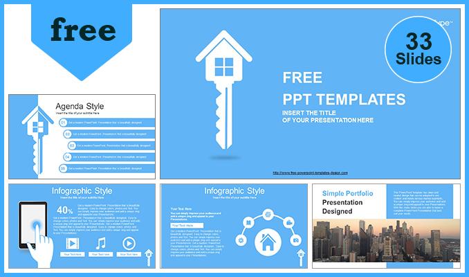 Modèle Powerpoint Gratuit De Clé De La Maison Immobilière