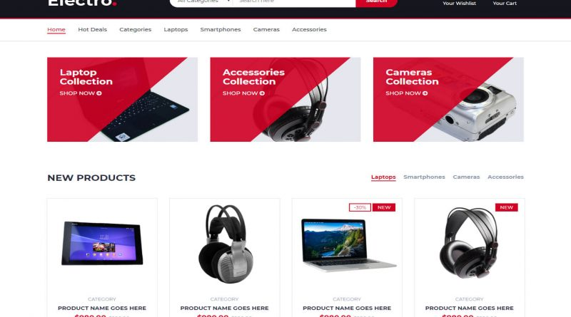 Electro Free Template Html5 et Bootstrap eCommerce
