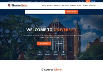 Education Master - Template Html Bootstrap Gratuit Avec Panel Admin