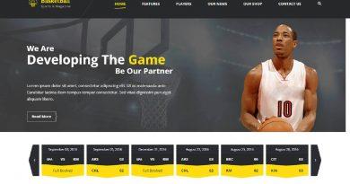 SportsMagazine Template HTML5