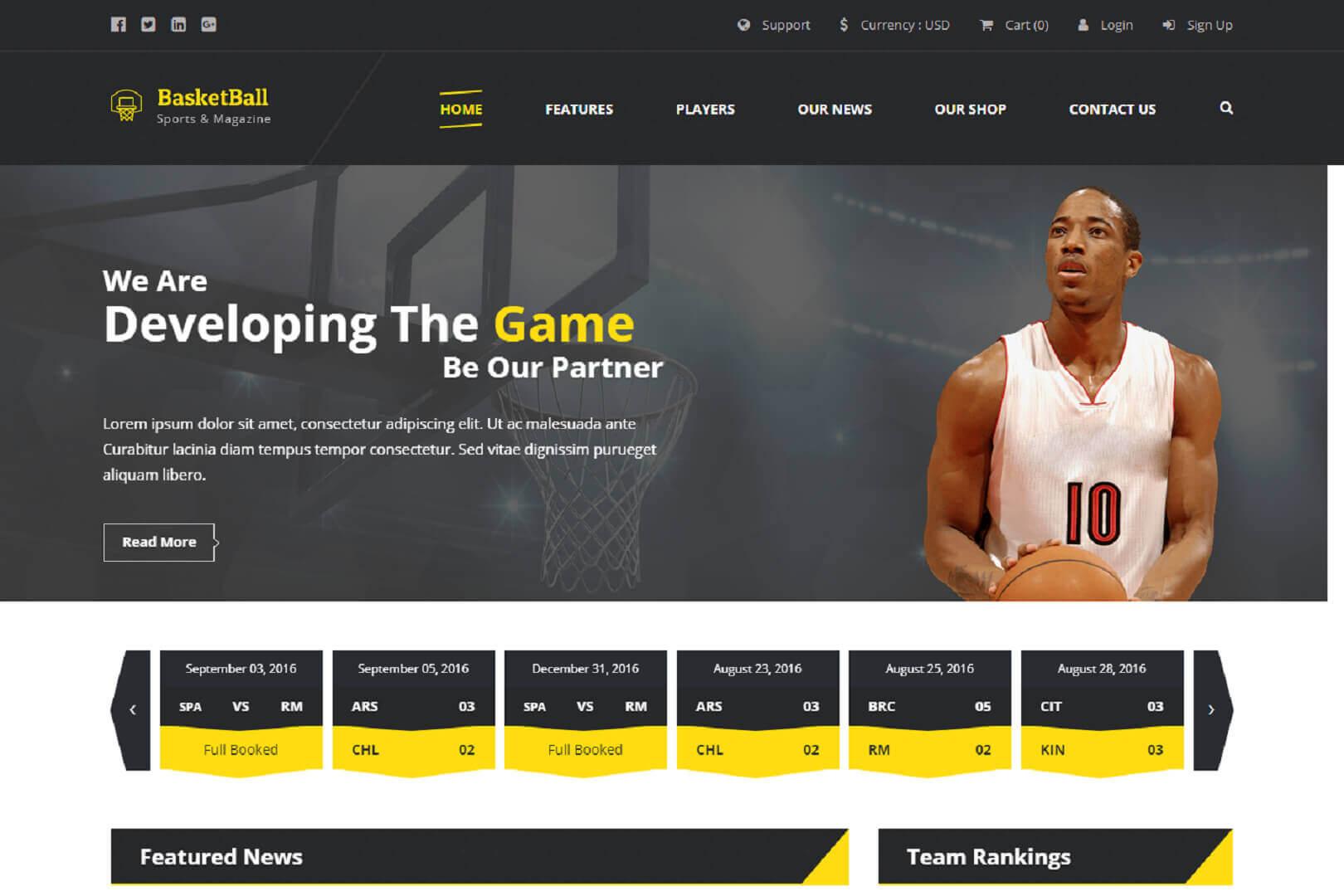 SportsMagazine:Template HTML5 et Bootstrap Gratuit