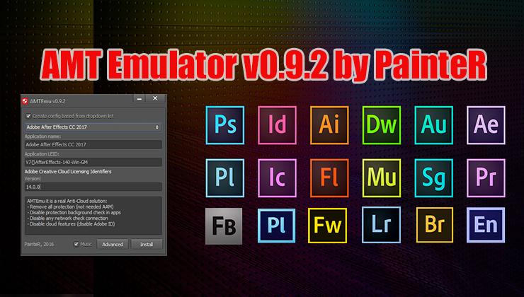 AMT Emulator v0.9.2 (2019) Activateur pour tous les programmes Adobe