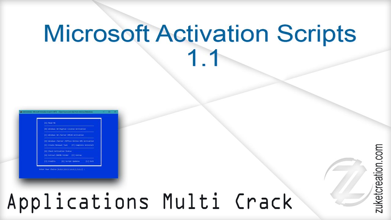 Microsoft Activation Script 1.1 Stable