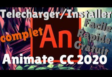 Comment Telecharger Installer dernière version Adobe ANIMATE CC 2020 complet, facile rapide gratuit
