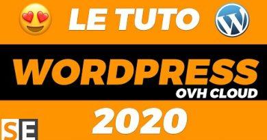TUTO WORDPRESS 2020 : WordPress tutorial français pour débutant avec OVH Cloud