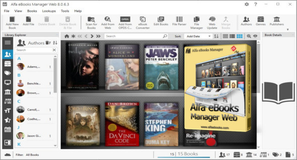 Alfa eBooks Manager Pro/Web 8.4.6.1 + Portable
