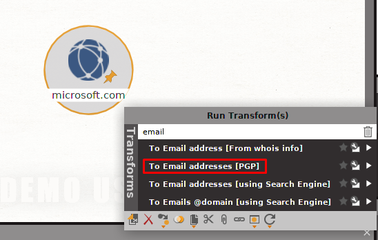Obtenir des adresses e-mail
