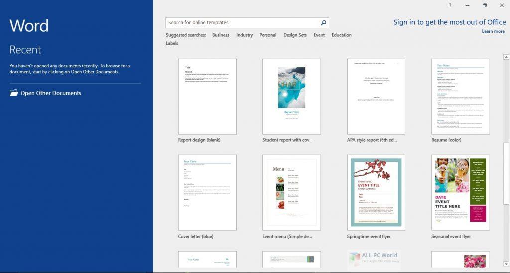 Microsoft Office 2016 Pro Plus avec les mises à jour de mai 2020 Télécharger