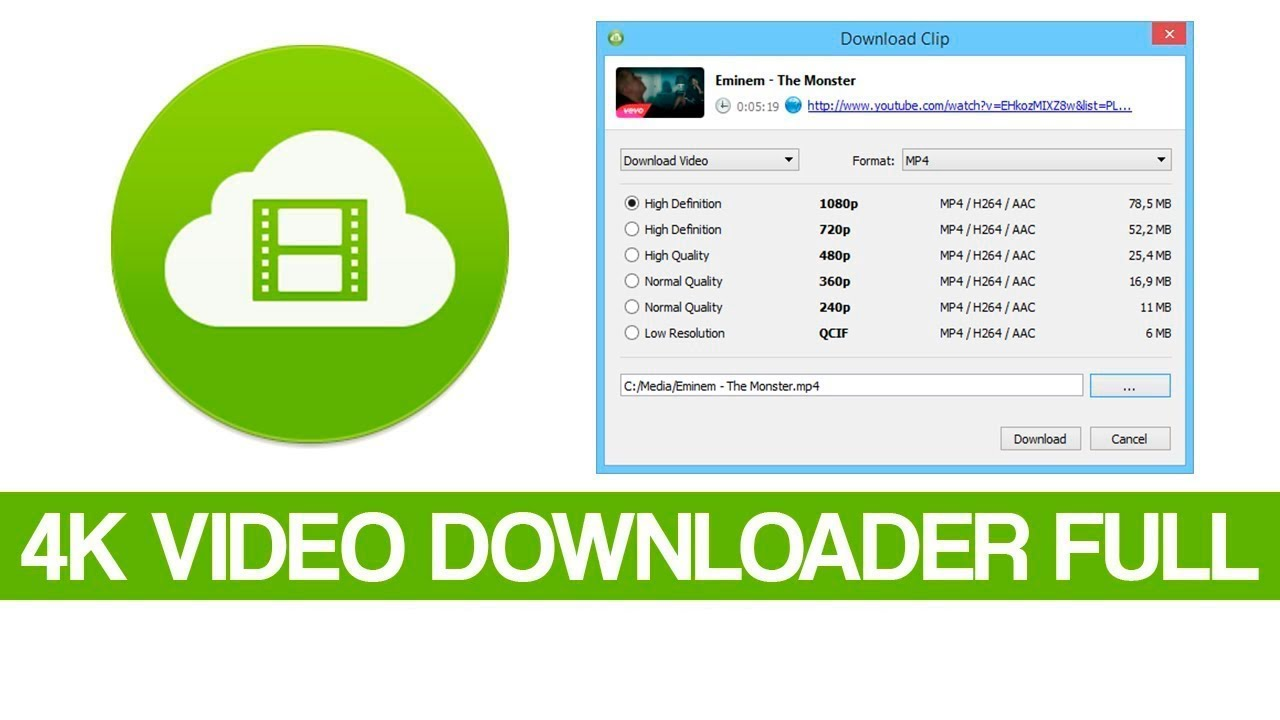 4k Video Downloader 4.12.3.3650 Crack + clé de licence Latest