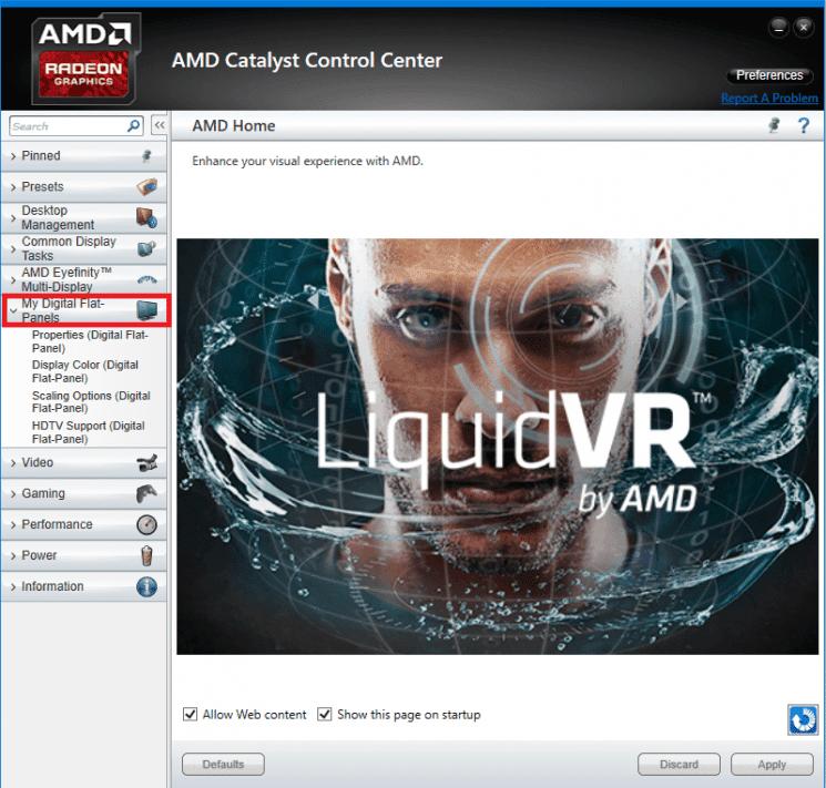 Centre de contrôle AMD Catalyst