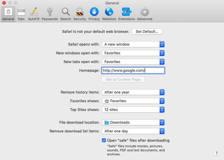 Comment faire de Google votre page d'accueil sur Safari