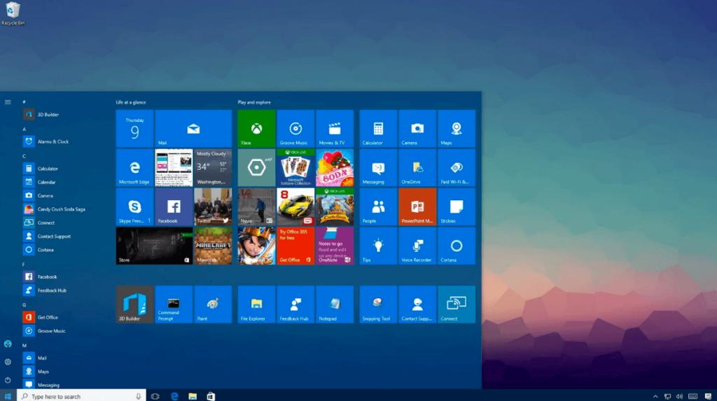 Aide de Windows 10