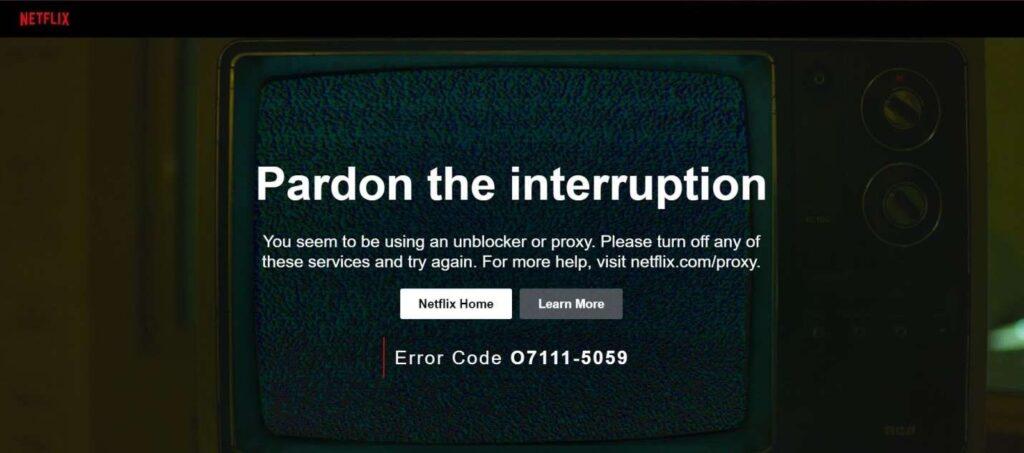 interruptions netflix