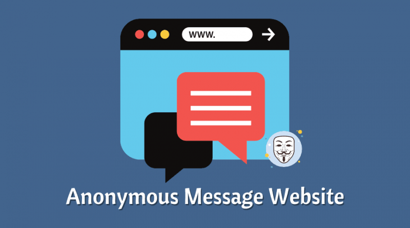 Anonymous Message Website