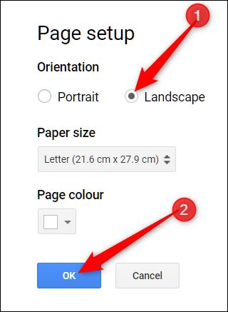 Paysage de documents Google