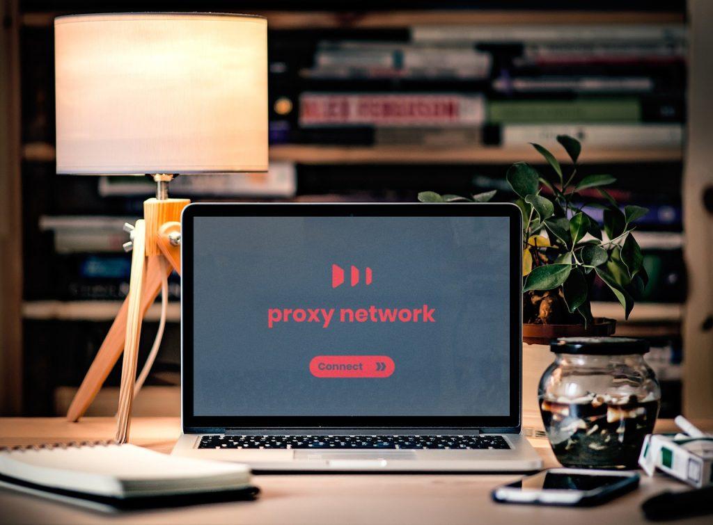 Réseau proxy affiché sur l'ordinateur portable