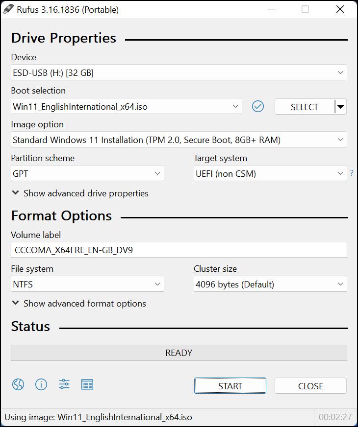 Créer une clé USB amorçable Windows 11