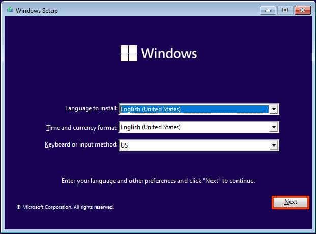 Installation propre de Windows 11 sur un PC non pris en charge